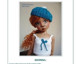 """46. English and french INSTANT DOWNLOAD PDF knitting Pattern 16 inches dolls bjd msd kaye wiggs dollstown 17"""""""