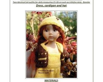 "49. English and  French INSTANT DOWNLOAD PDF knitting Pattern yosd bjd artist dolls 10"""
