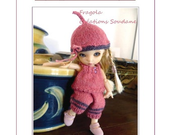 "56. English and  French INSTANT DOWNLOAD PDF knitting Pattern Pukifee Fairyland Nappychoo Soom 5-6""( 12-15cm) yosd"
