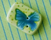 Dusky Flutterby -- Glazed Button