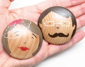 Wedding Favors TWO Fully Custom Wedding Buttons - Bridal Shower Gift Goose Grease