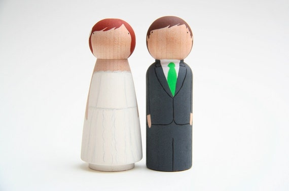 custom wedding cake toppers by Goose Grease