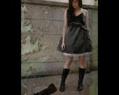 RESERVED - Sherry Brandy - satin dress - size M