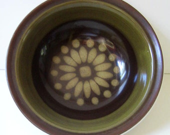 Stoneware cereal bowl, 1970s Electra Regency by Casual Ceram.