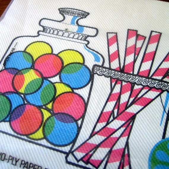 Candyland.  1970s paper placemats.