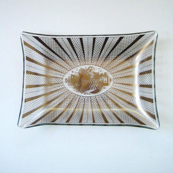 1960s Georges Briard midcentury glass tray.