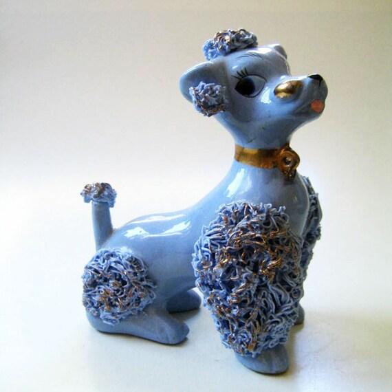 Edgar. 1950s blue spaghetti poodle.