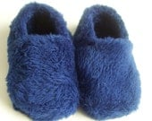 Custom Blue Plush Booties for Baby
