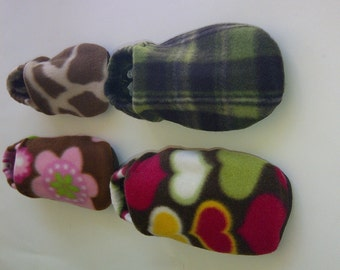 Custom Print Fleece Slippers With White Grip Soles for Adults/Kids