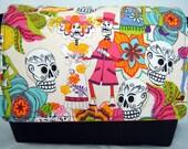 Handbag Messenger Style in Day of the Dead-Día de los Muertos Print