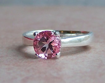 Genuine Pink Topaz Sterling Silver Ring, Cavalier Creations