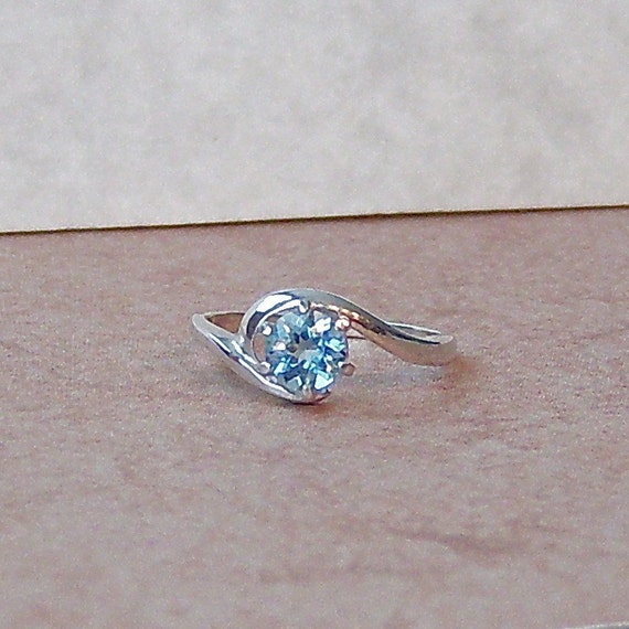 Genuine Aquamarine Sterling Silver Ring, Cavalier Creations