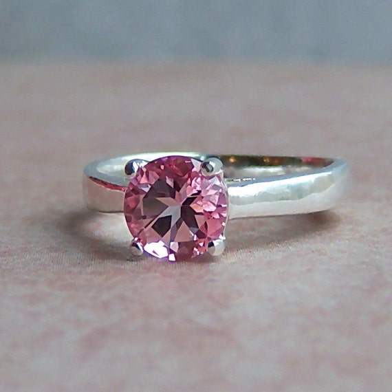 genuine pink topaz sterling silver ring cavalier creations
