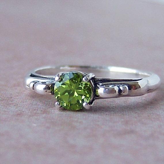 Genuine Peridot Sterling Silver Filigree Ring, Cavalier Creations