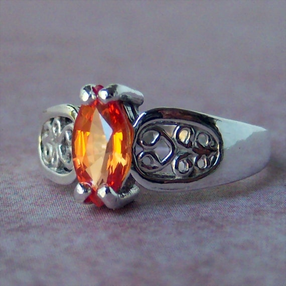 SALE.....1ct Genuine Sapphire Sterling Silver Ring, Cavalier Creations