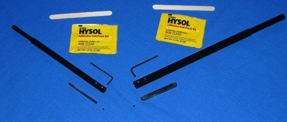 Make Your Own Woodturning Tool-2 Set Kit plus Sharpening Block in Black Oxide