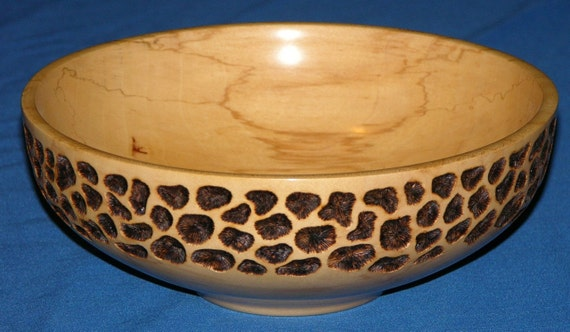 Maple Bowl-Turned-Carved-Pyrography-Return One