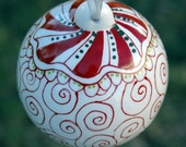 Red Peppermint Christmas Ornament