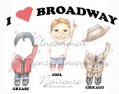 Broadway Boy Joel Paper Doll, Grease, Chicago