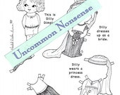 Paper Doll Dress Up, Adult or Child's Coloring Page