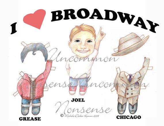 Broadway Boy Joel Paper Doll, Grease, Chicago