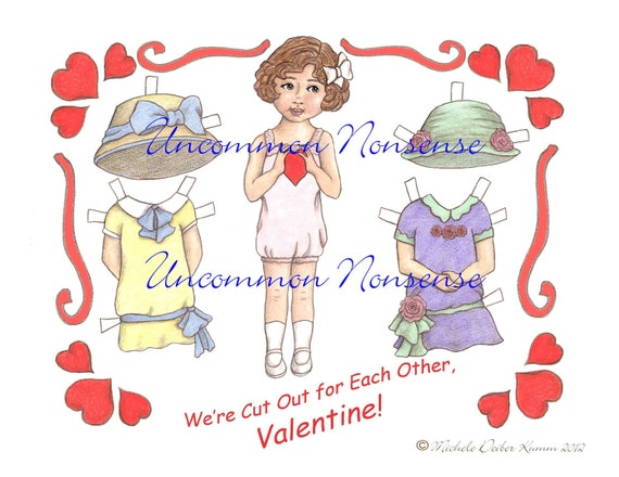 A Valentine Paper Doll