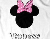 Personalized Custom Disney Minnie Mouse T Shirt