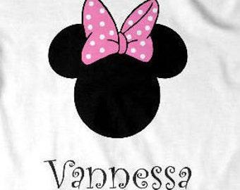 Personalized Custom Disney Minnie Mouse T Shirt