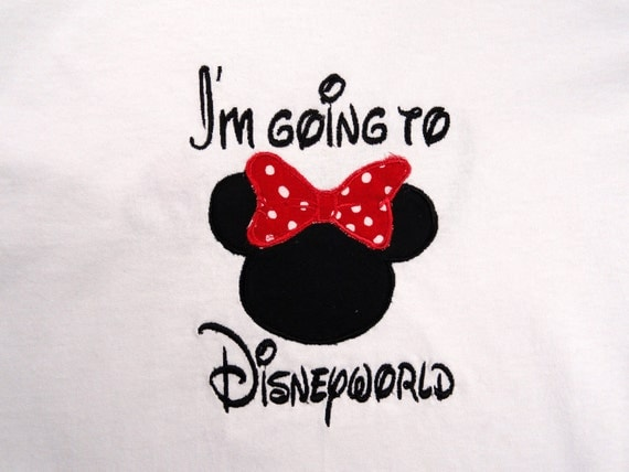 Personalized Custom I'm Going to Disneyworld Mouse Ears with Bow T Shirt