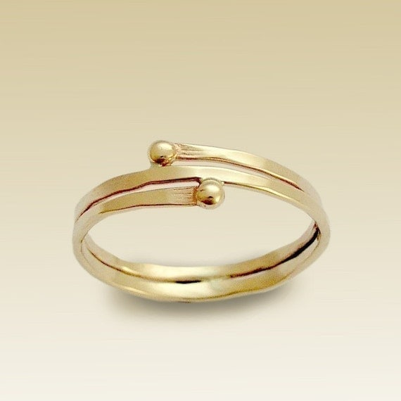 Toe ring, midi ring, Gold Filled Ring, Thin Band, Simple Wrapped Band, minimal ring, knuckle Gold Ring, skinny - What's your story R90019