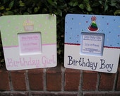 CLEARANCE SALE Birthday Picture Frames for Girls and Boys