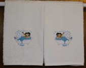 Betty Boop - 2 Embroidered Hand Towels by Susan