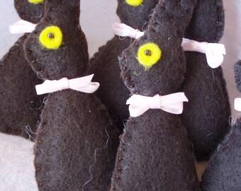 Felt Chocolate Easter Bunny Brooch