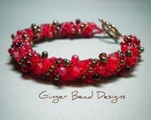Shades of Red Russian Spiral Bracelet