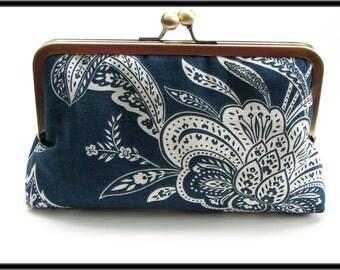 Analea Clutch, Handbag  Lined in Red Dupioni Silk
