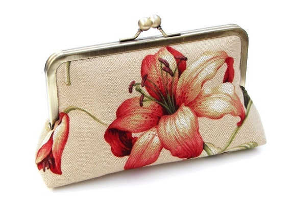 FREE SHIPPING Natalie Clutch, Handbag  Lined in Moss Dupioni Silk