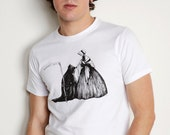 Men's Organic Grim Reaper Kiss of Death Shirt Gothic Renaissance