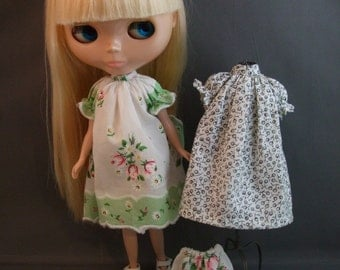 Hankie Dress Pattern  for Blythe