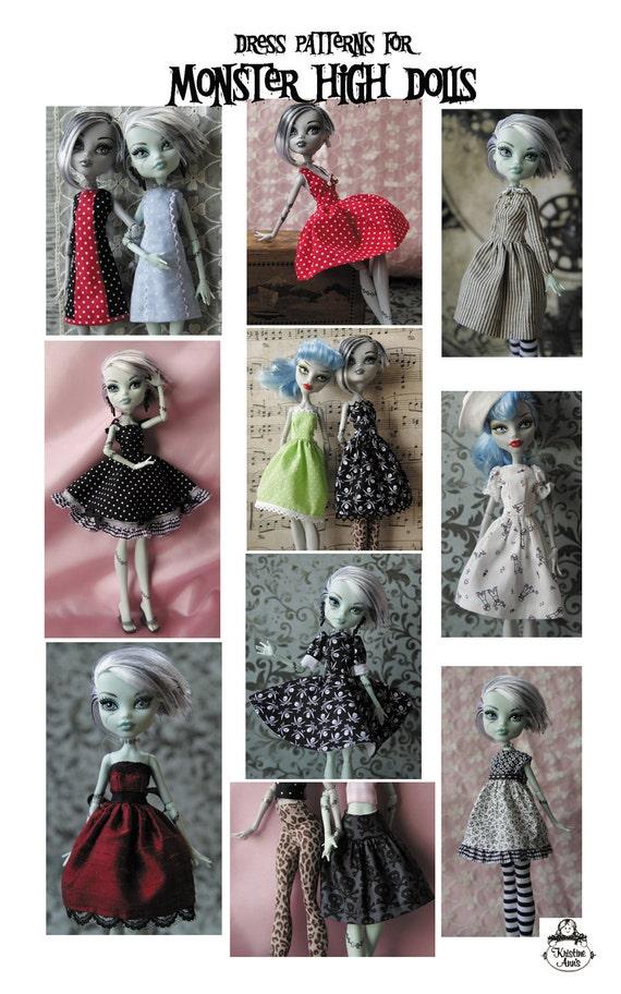 Monster High Dolls - Pattern for Dresses