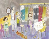 Backstage.  Limited edition print by Vivienne Strauss.