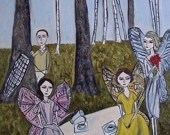 Nabokov's Dream. Limited edition print of an original oil painting by Vivienne Strauss.