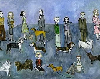 Dog Days. Limited edition print by Vivienne Strauss.