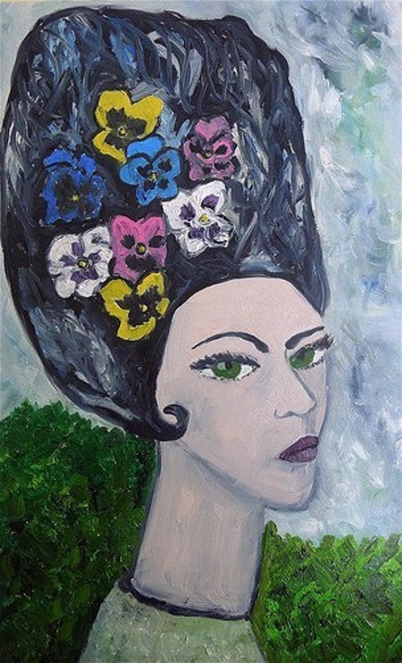 Pansy.  Original oil painting by Vivienne Strauss.