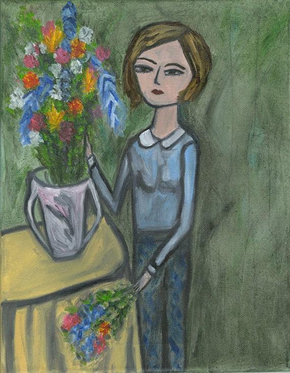 The Arrangement.  Original oil painting by Vivienne Strauss.