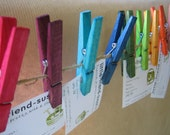 Rainbow Bright decorative pegs - set of 9