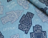 Big Robot Toy-Japanese cotton fabric (0.5 yard)