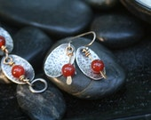 Red Lily Pad Earrings