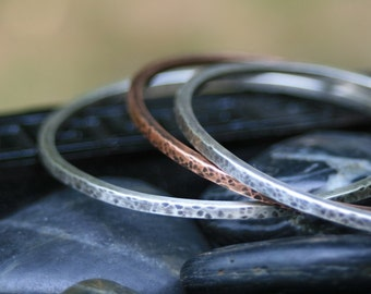 Custom Made Sterling Silver Quote Bangle Bracelet