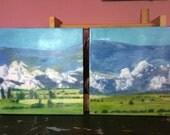 For Janelle - 2 paneled custom painting of Castle Rock