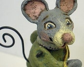 The Mouse Ran Up the Clock - Papier Mache Nursery Rhyme by Alycia Matthews